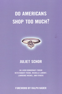 Book Cover for Do Americans Shop Too Much? links to Beacon Press page for book