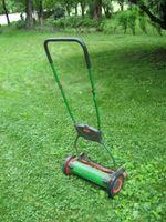 The reel mower, photo by Nancy Gift