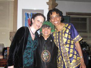 Helene Atwan, Sonia Sanchez and Nadine Patterson