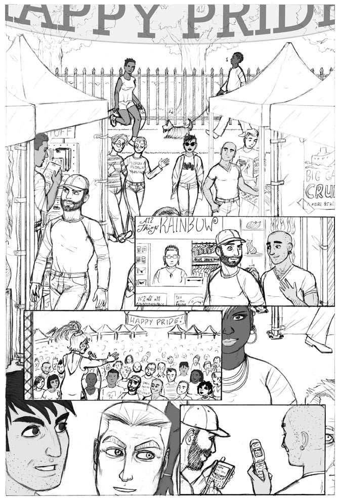 Happy Pride comic panel