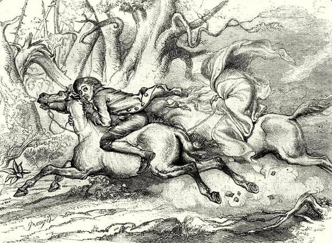 Illustration from Legend of Sleepy Hollow