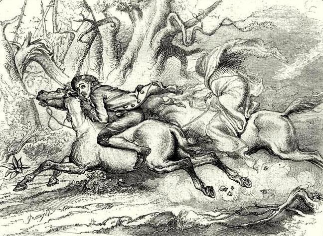 Illustration from Legend of Sleepy Hollow