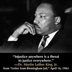 Quote from Martin Luther King's Letter from Birmingham Jail