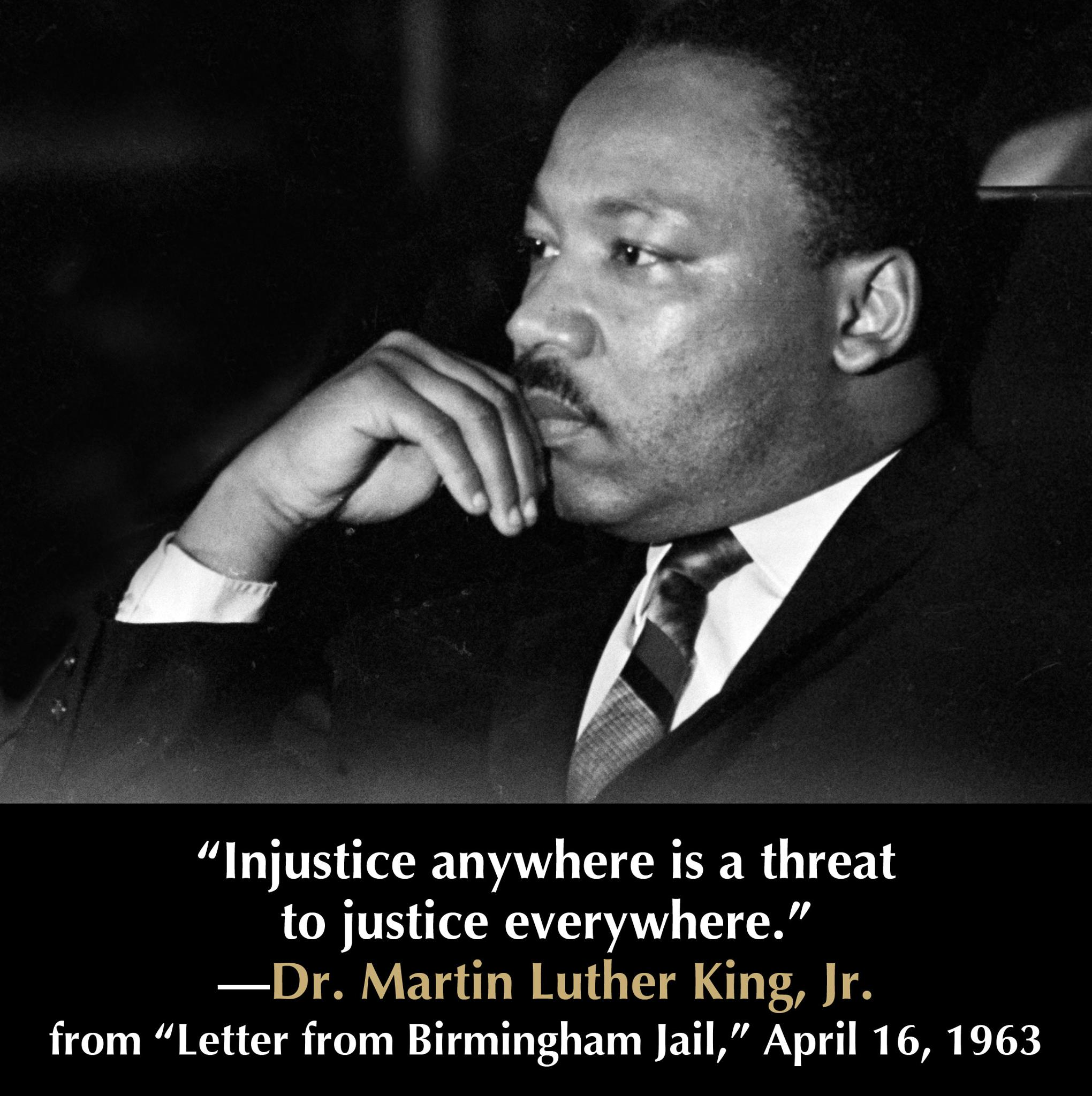 Martin Luther King Jr. on Injustice