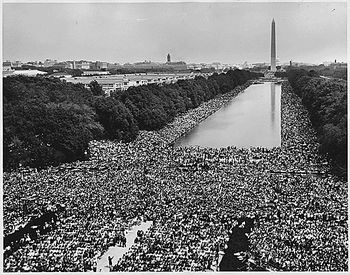 Crowds at the 1963 March on Washington