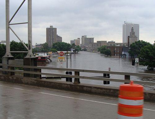 Cedar Rapids Iowa during the 2008 flood