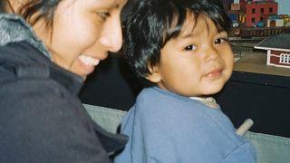 Mariola and her son Ernesto