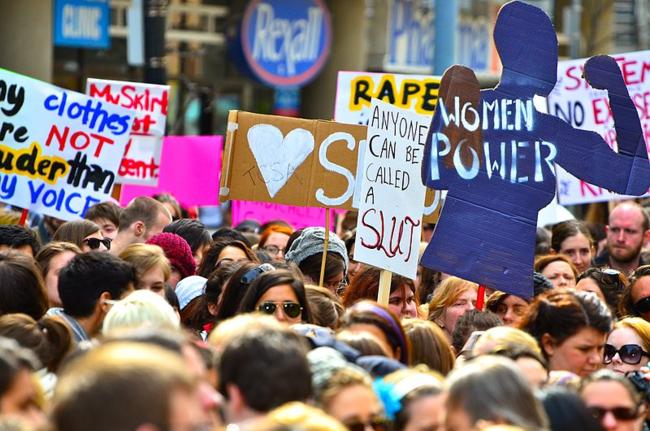 The first SlutWalk in Toronto (photo by Anton Bielousov)