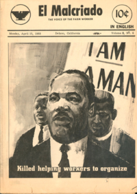 'El Malcriado' cover featuring Dr. King