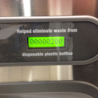 Water fountains encourage the use of reusable bottles.