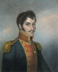 Portrait of Simón Bolívar by M.N. Bate