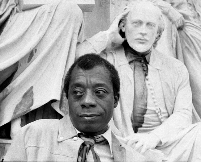 James Baldwin with William Shakespeare, photo by Allan Warren