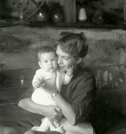 The author and her mother in 1961.