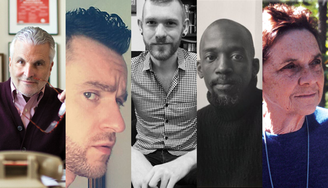 J.D. McClatchy, Ben Klein, Stephen S. Mills, Essex Hemphill, and Adrienne Rich