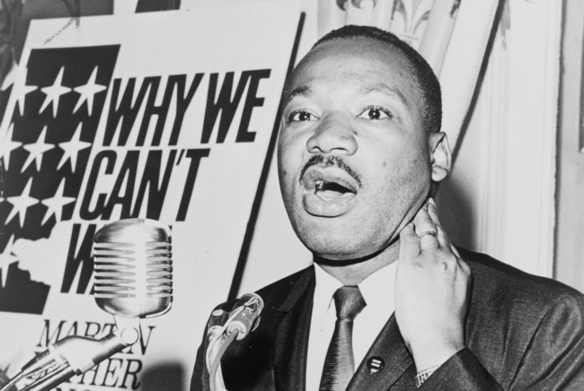 Martin Luther King, Jr. at a press conference, June 8, 1964 / World Telegram & Sun photo by Walter Albertin (via Wikimedia Commons)