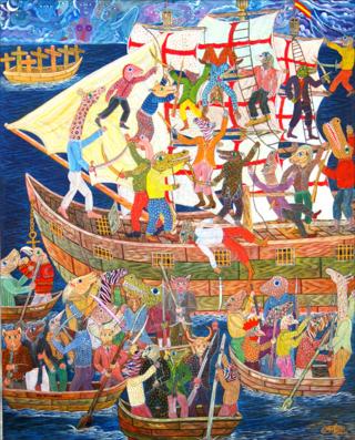 """The Pirates"" by Frantz Zéphirin"