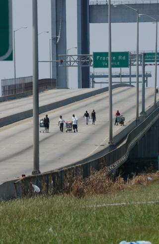 Crossing the Danziger Bridge