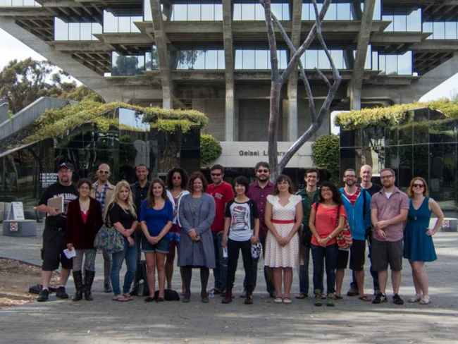 My Clarion class and I, UCSD, 2013