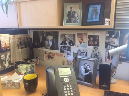 Nicholas's desk space