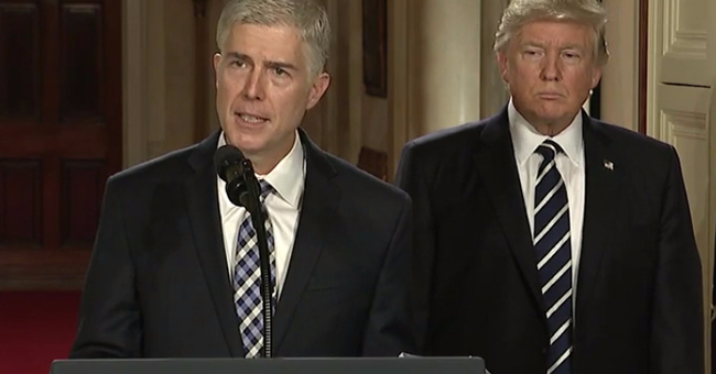 Neil Gorsuch, nominee for Associate Justice to the U.S. Supreme Court, and President Donald Trump