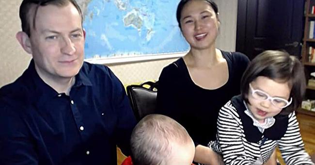 Robert Kelly, Jung-a Kim, and their children