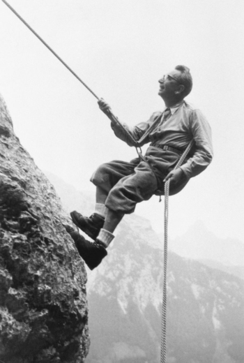Frankl mountain climbing in the Alps  1960