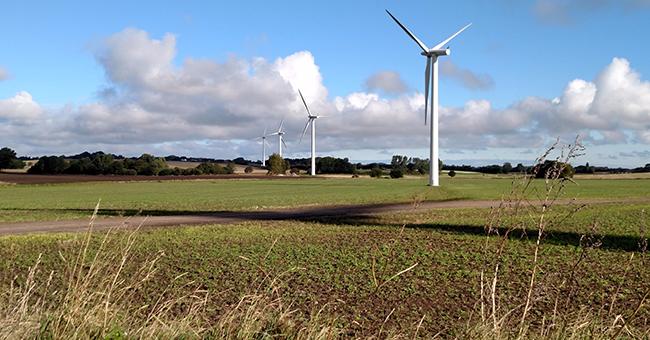 Wind turbines on the island of Samsø