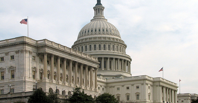 The Senate side of the Capitol Building, Washington, DC