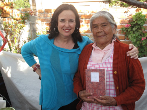 Ruth and Esperanza with the Spanish edition of Translated Woman in 2010