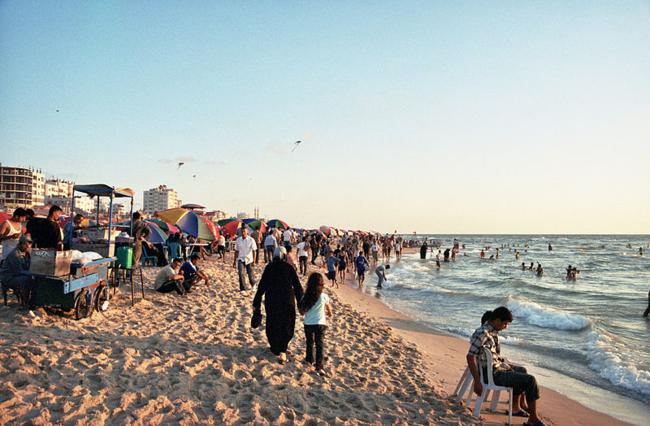 Beach in Gaza City