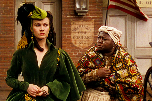 Mammy and Scarlett O'Hara in Gone With the Wind