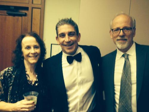 Helene Atwan, Richard Blanco, and Tom Hallock