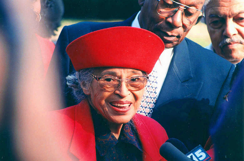 Rosa Parks.Youth Rally. AR Chapel.HU.WDC. 5 December 1998