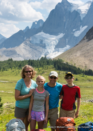 Lanza and family in Kootenay National Park