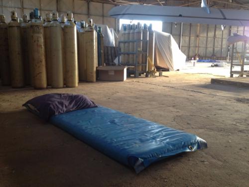 Hangar campsite