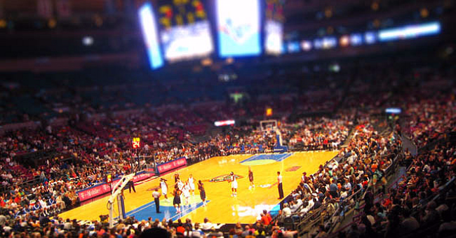 Madison Square Garden during a Liberty game