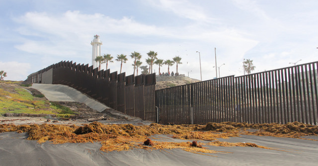 Border fence that separates San Diego, CA from Tijuana, Mexico
