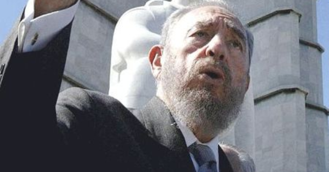 Fidel Castro, at the Monument to José Martí, Havana, Cuba.
