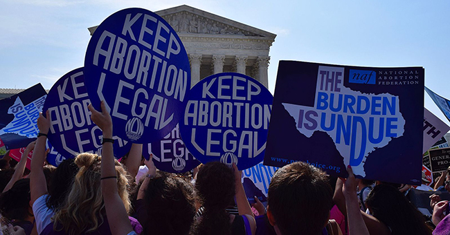 Whole Woman's Health v. Hellerstedt Pro-choice demonstration in front of SCOTUS