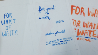 Lettering for For Want of Water
