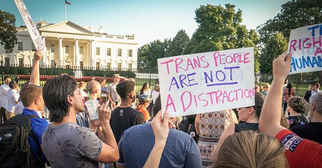 Protest Trans Military Ban, White House, Washington, DC, USA