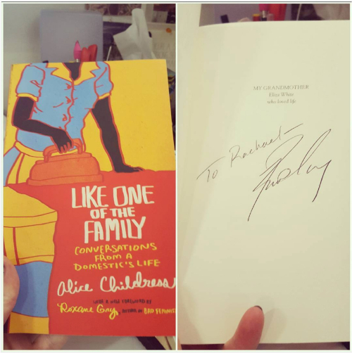 Like One of the Family signed by Roxane Gay