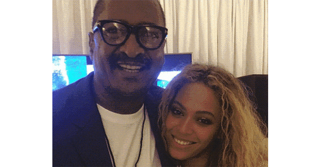 Beyoncé with her father Mathew Knowles