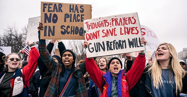 Thoughts and Prayers Don't Save Lives, student lie-in at the White House to protest gun laws
