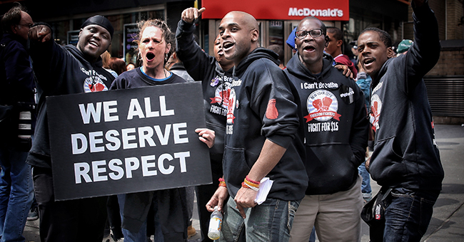 Brooklyn fast-food workers rally for respect, April 15, 2015