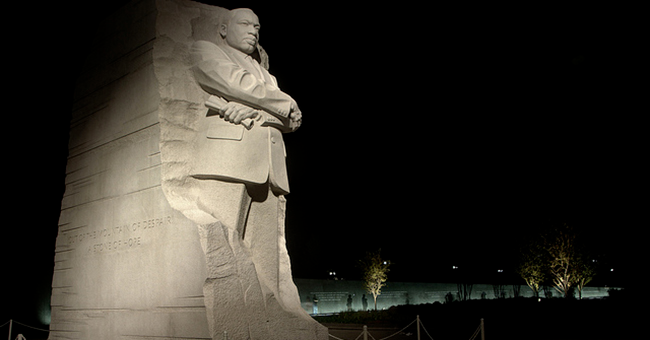 Martin Luther King, Jr. Memorial at night, National Mall, Washington, DC