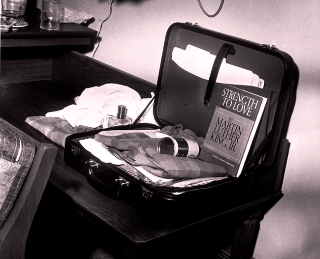 King's suitcase