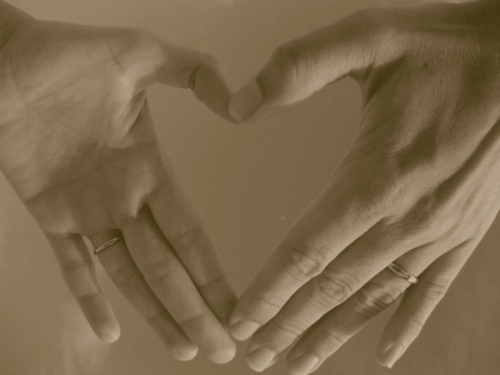 Two Left Hands Forming a Heart Shape