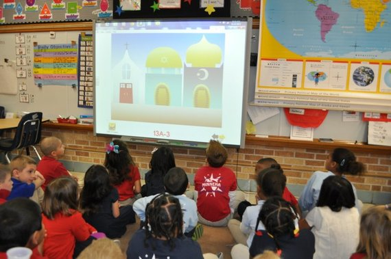 First-graders at a Wichita elementary school learn about three world religions.