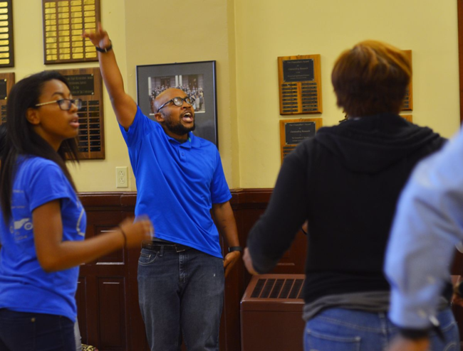MU students protest inside Jesse Hall after report of racism